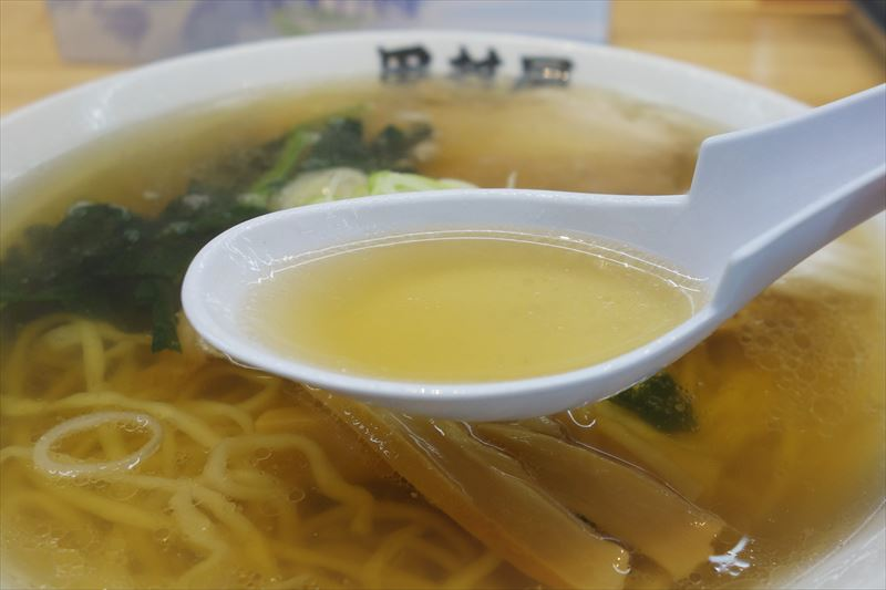 田村屋の佐野ラーメンのスープ