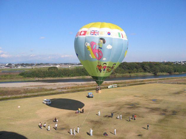 おやまバルーンフェスタの体験搭乗(上空)