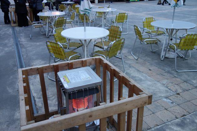 暖を取れるストーブの写真
