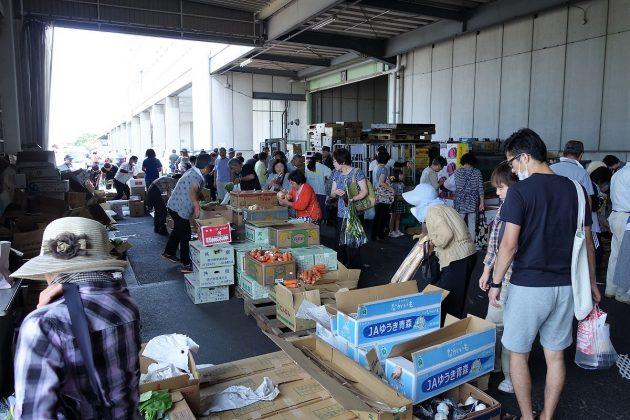 県南市場の年末特別開放の様子1