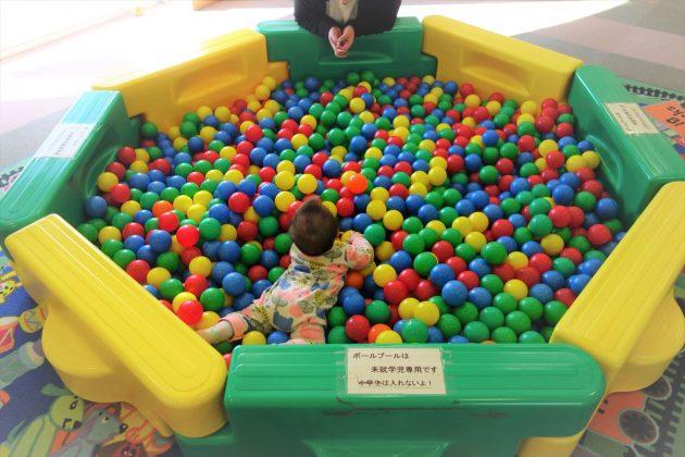 佐野市こどもの国のボールプール
