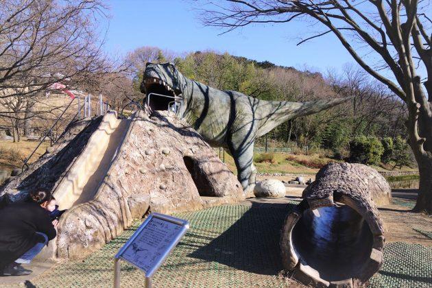 佐野市こどもの国 の恐竜滑り台