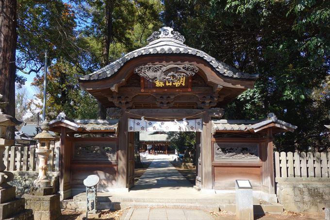 朝日森天満宮の神門
