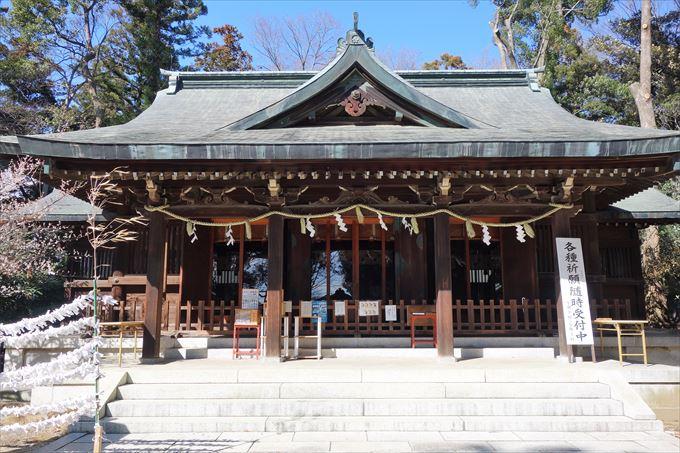 朝日森天満宮の社殿