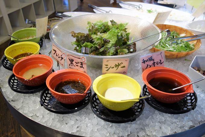いちご一会のサラダコーナー
