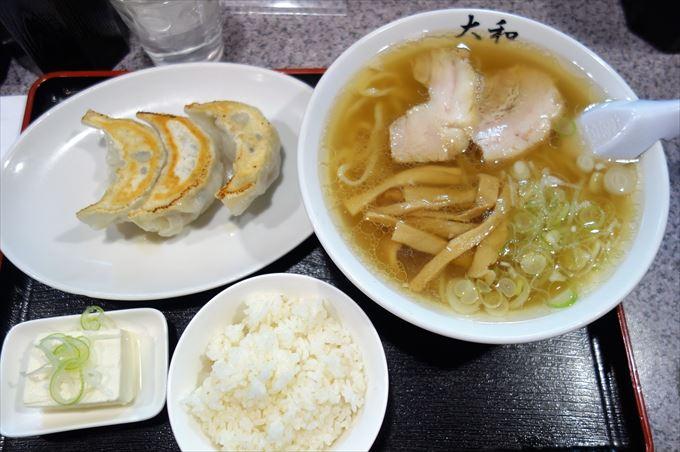 ラーメン大和のランチセット(餃子セット)