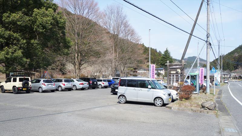 古代生活体験村の駐車場
