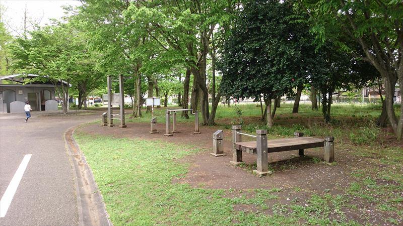 大平運動公園のアスレチックと健康遊具