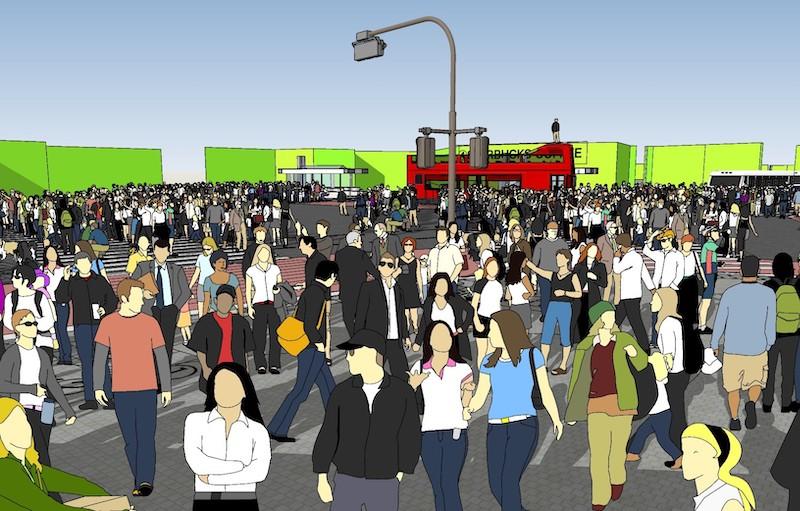足利市に建設される渋谷スクランブル交差点のセットイメージ3