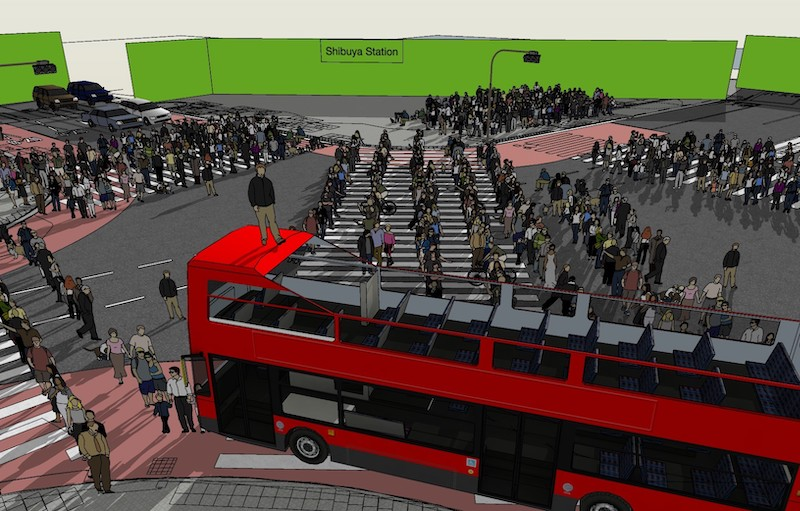 足利市に建設される渋谷スクランブル交差点のセットイメージ4