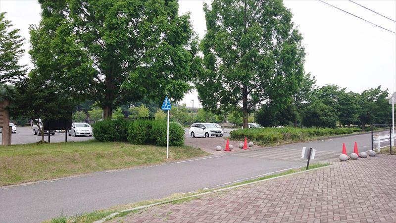 みかもハーブ園の駐車場