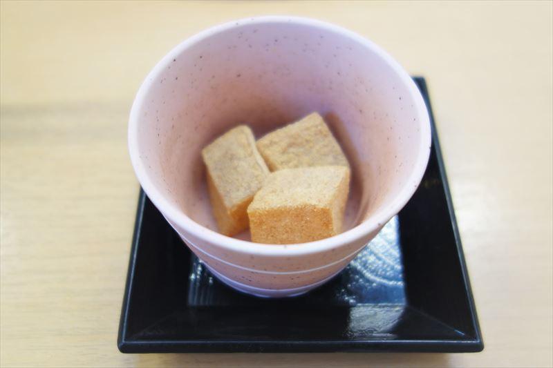 らーめん大金の無料デザート「わらび餅」