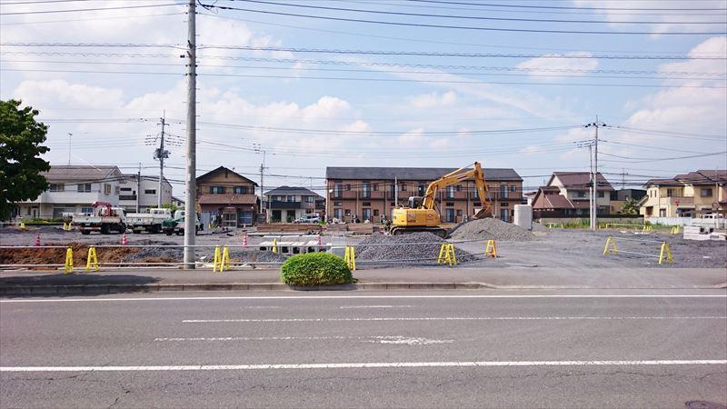 セブンイレブン高萩店の建設予定地