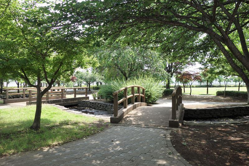朱雀中央公園の水路