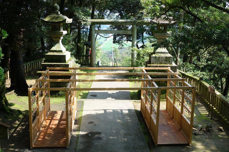唐沢山神社の風鈴参道から見た景色
