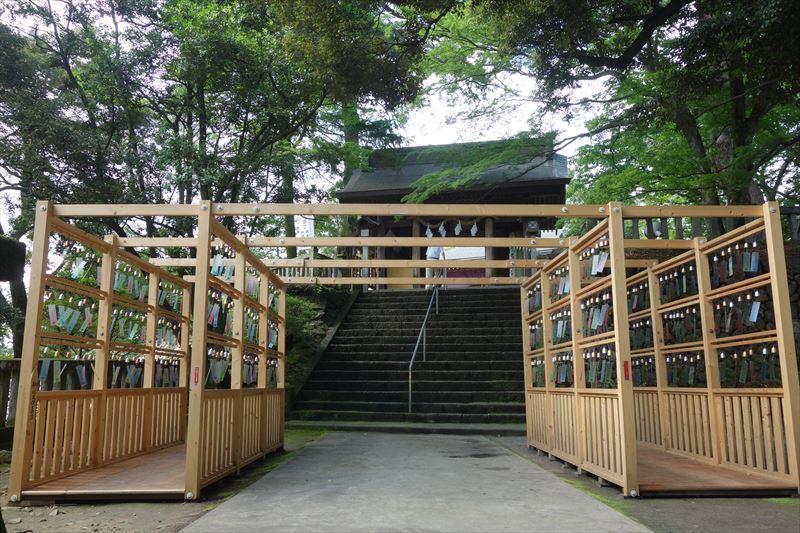 唐沢山神社の風鈴参道(本殿の涼音の社)