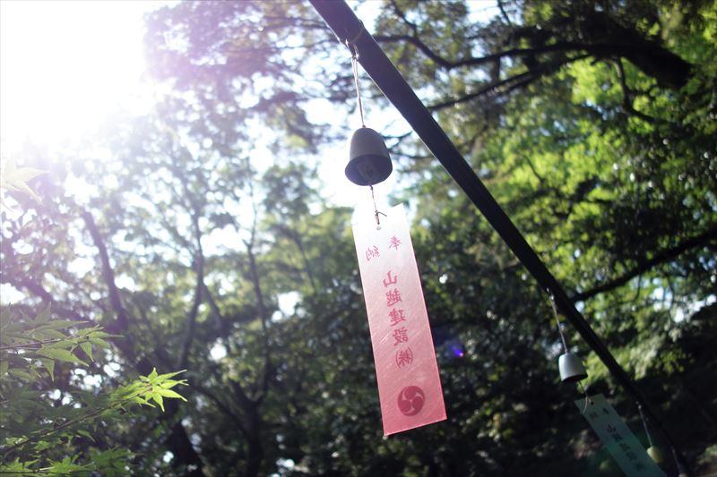 唐沢山神社の風鈴参道の風鈴