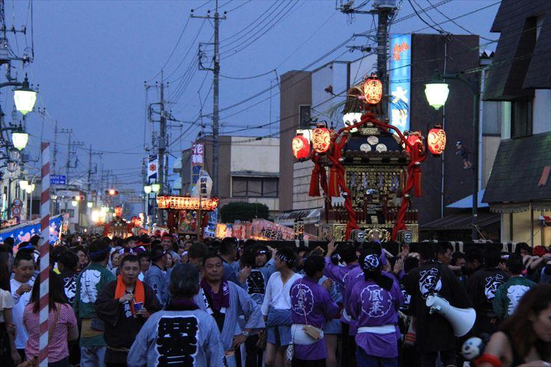 久下田祇園祭のようす