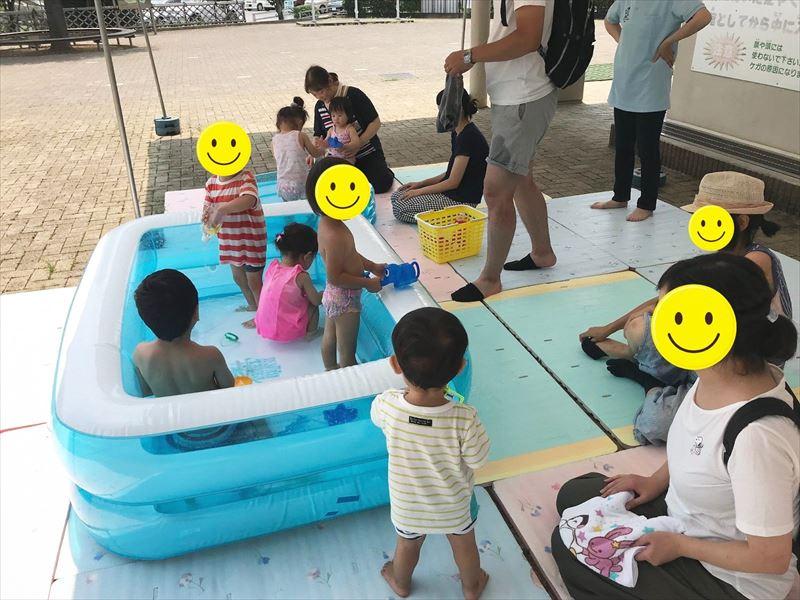 乳幼児も楽しめる水遊び