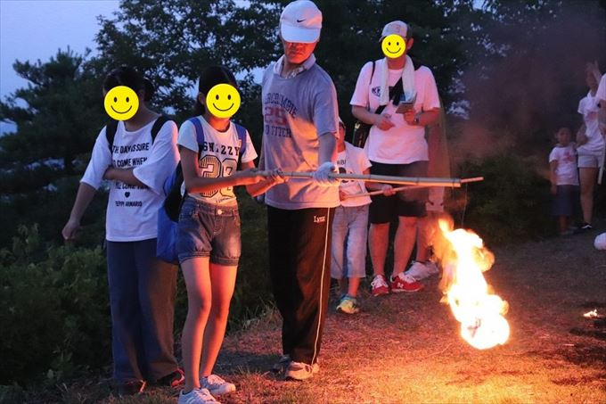 浅間の火祭りのようす