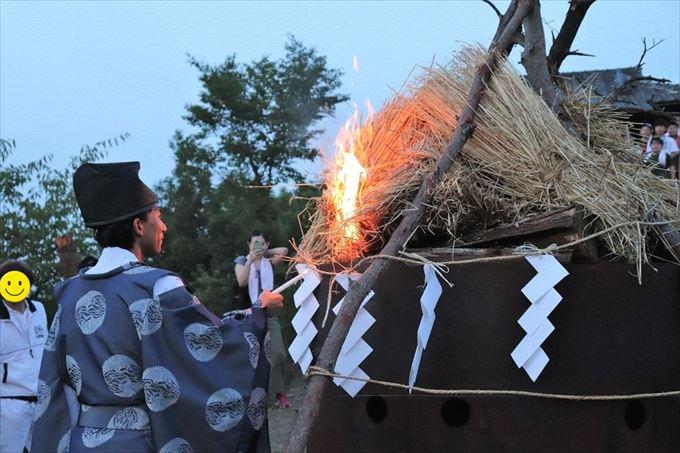 浅間の火祭り「点火の儀」