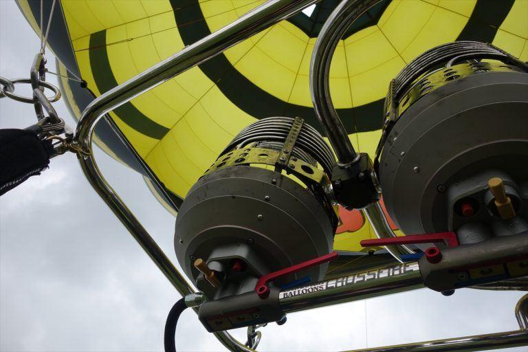 わたフェスで乗った熱気球のバーナー部