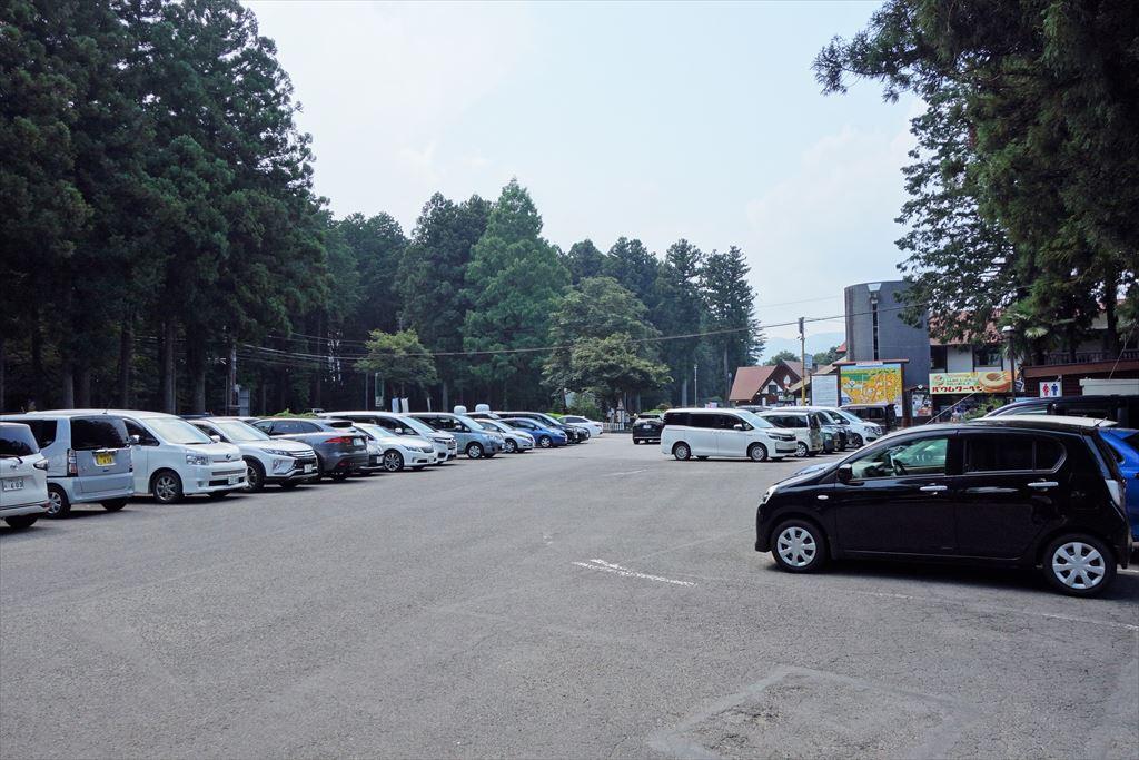 千本松牧場の第一駐車場