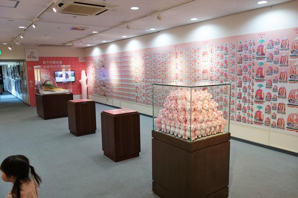 岩下の新生姜ミュージアムの展示ルーム
