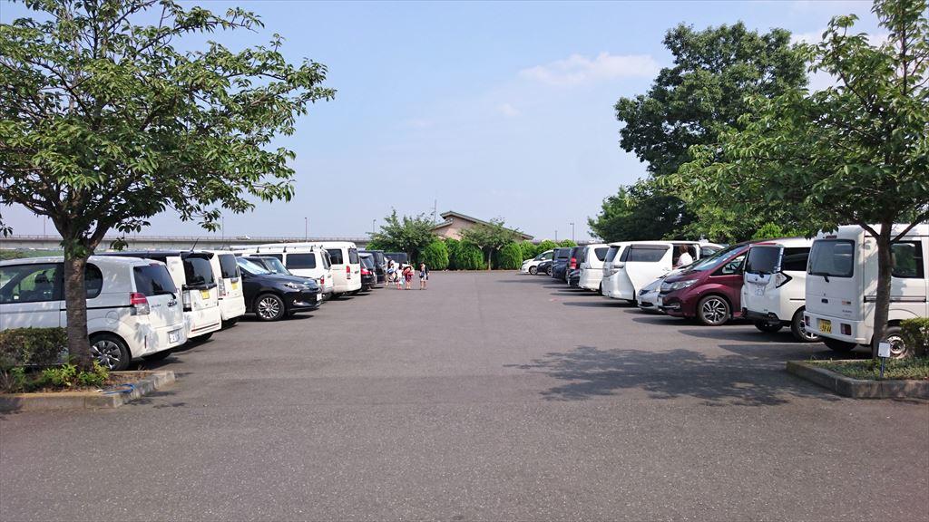 渡良瀬ウォーターパークの駐車場
