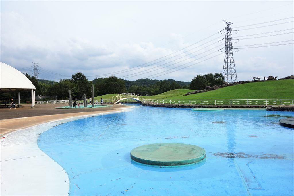 なかがわ水遊園の水遊び場(アップ)