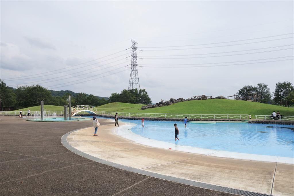 なかがわ水遊園の水遊び場