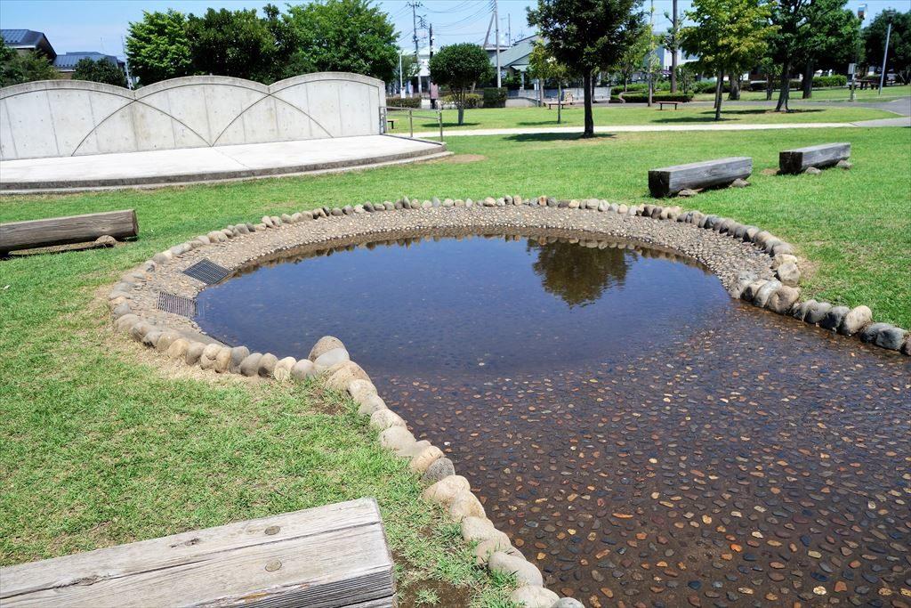 城南公園の水遊び場
