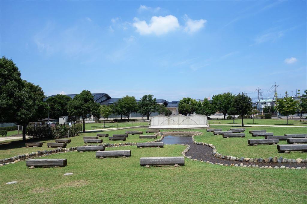 城南公園の木陰スペース