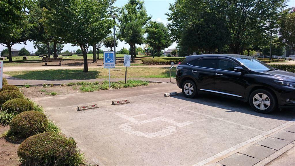 城南公園の駐車場