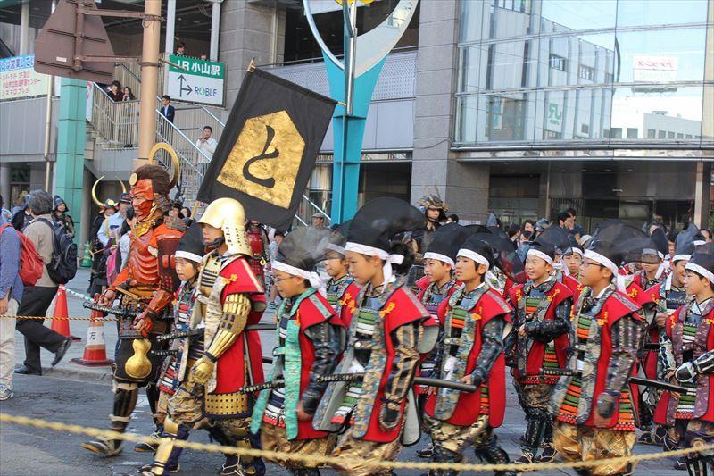 おやま開運まつりの甲冑パレード