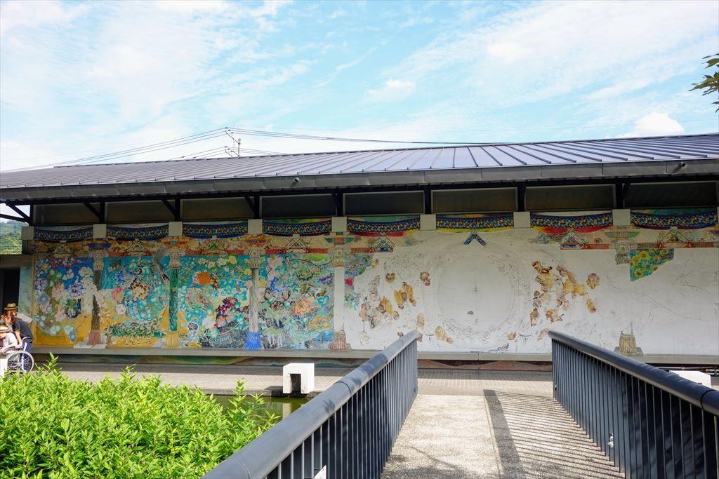 葛生伝承館のフレスコ画