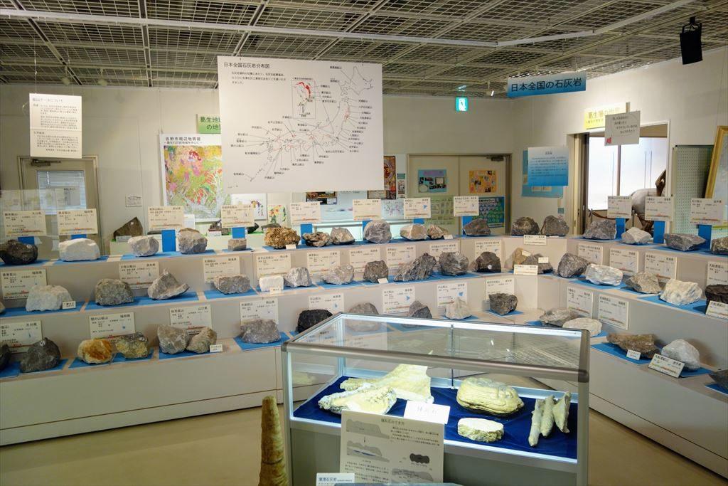 葛生化石館に展示してある日本全国石灰岩分布図