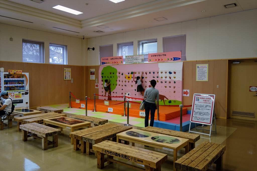 壬生町おもちゃ博物館の「わくわく夢広場(プチボルダリングコーナー)」