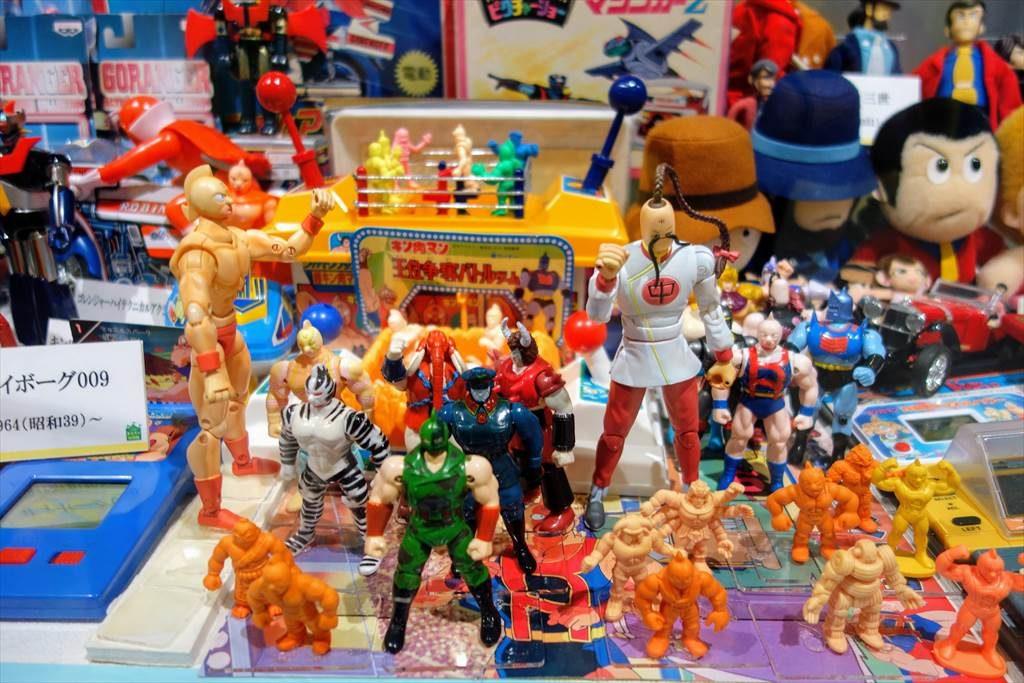壬生町おもちゃ博物館「きっずたうん」の展示品(キン消し)