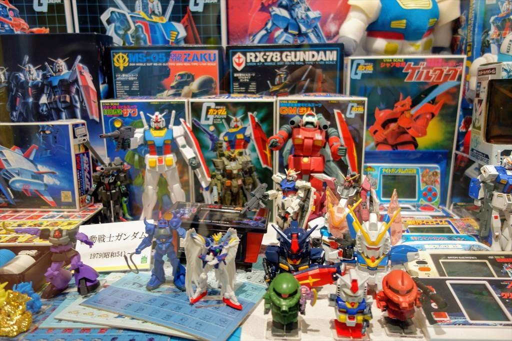 壬生町おもちゃ博物館「きっずたうん」の展示品(ガンプラ)