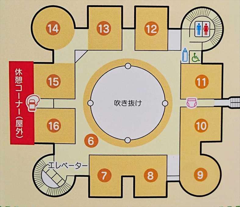 壬生町おもちゃ博物館2階「きっずたうん」のマップ