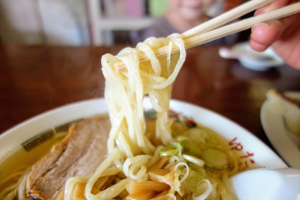 ゆたかやの佐野ラーメンの麺