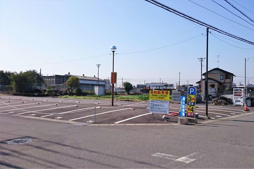 佐野新都市バスターミナルの第4駐車場