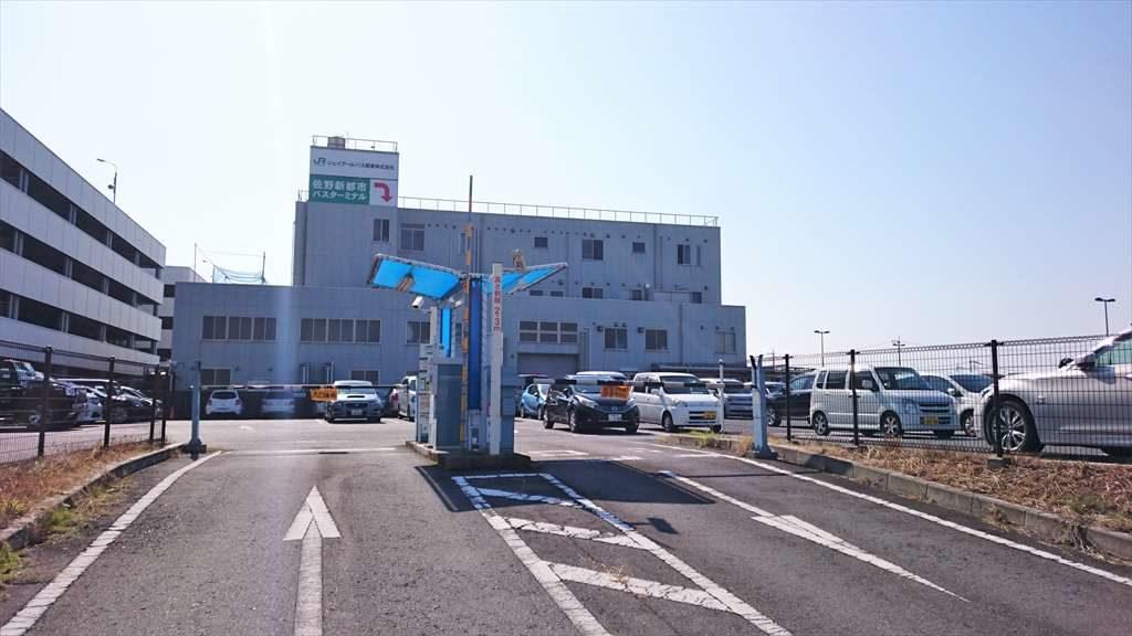 佐野新都市バスターミナルの第2駐車場