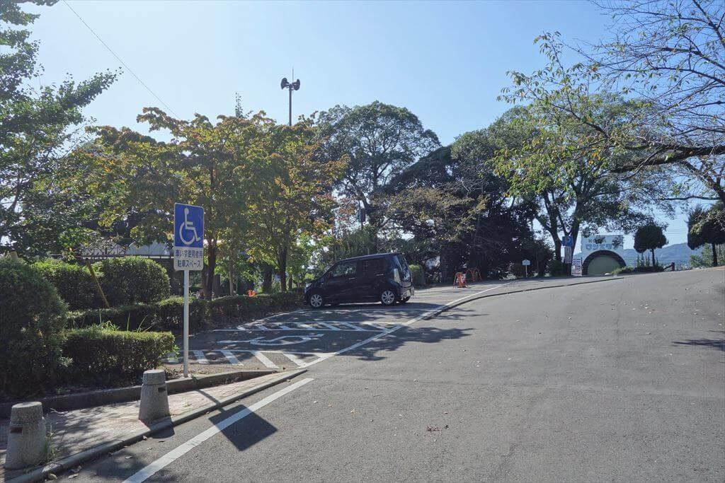 城山公園の駐車場(上側)