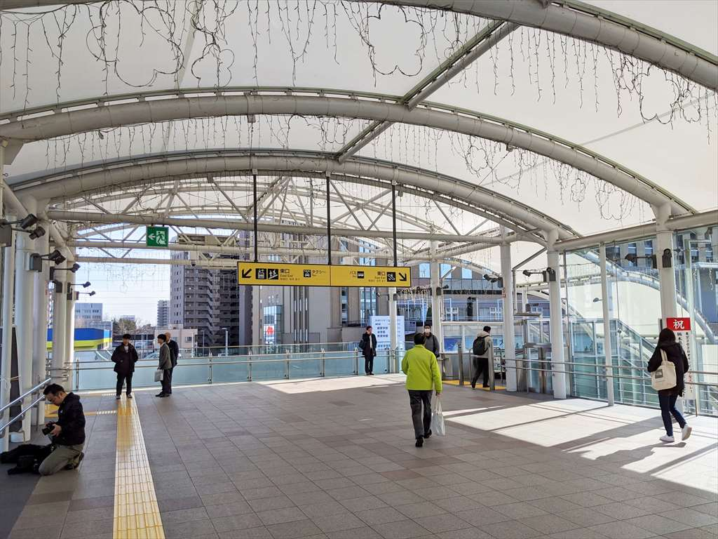 小山駅東口の喫煙所への道順1