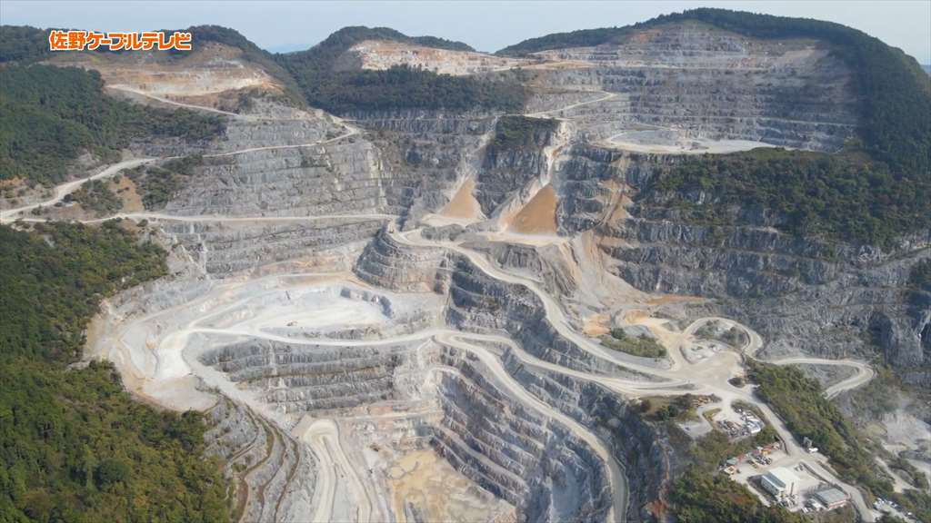 葛生採石場のドローン映像